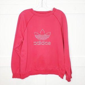 Vtg Adidas Orginals Trefoil Red Sweatshirt Medium